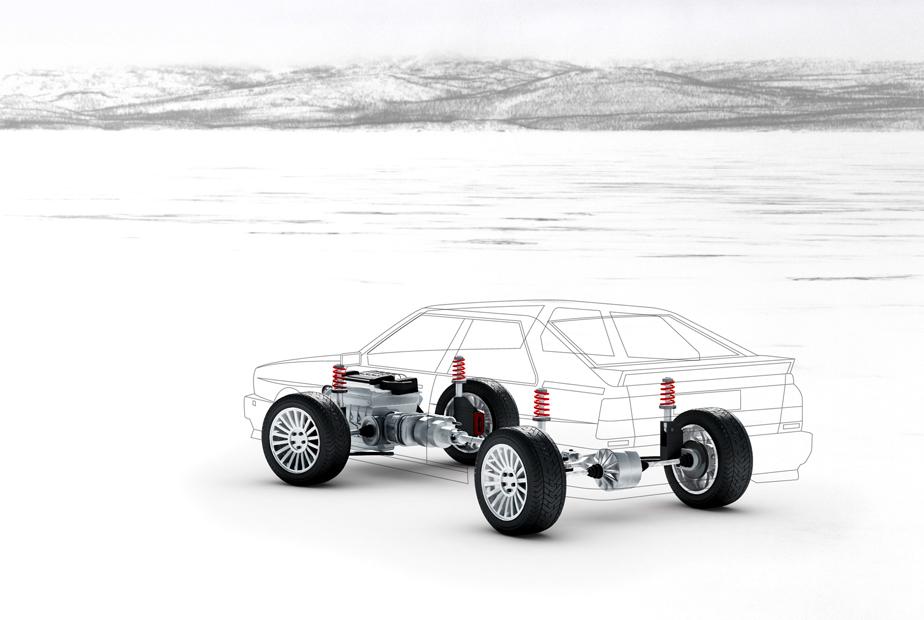 Allradgetriebe im Audi Ur-quattro