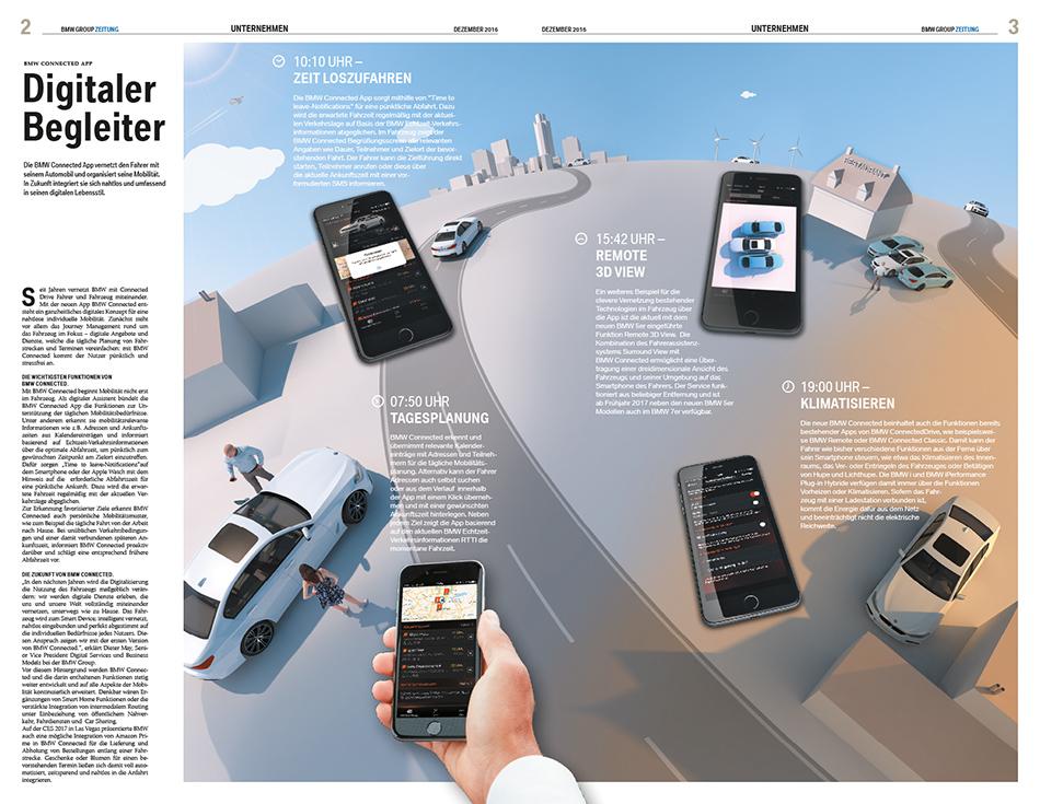 BMW Cars auf Globus