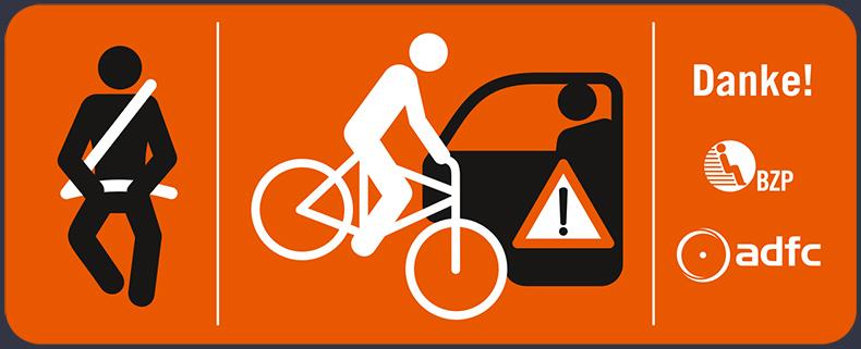 Warnhinweis für Fahrgäste in Taxis