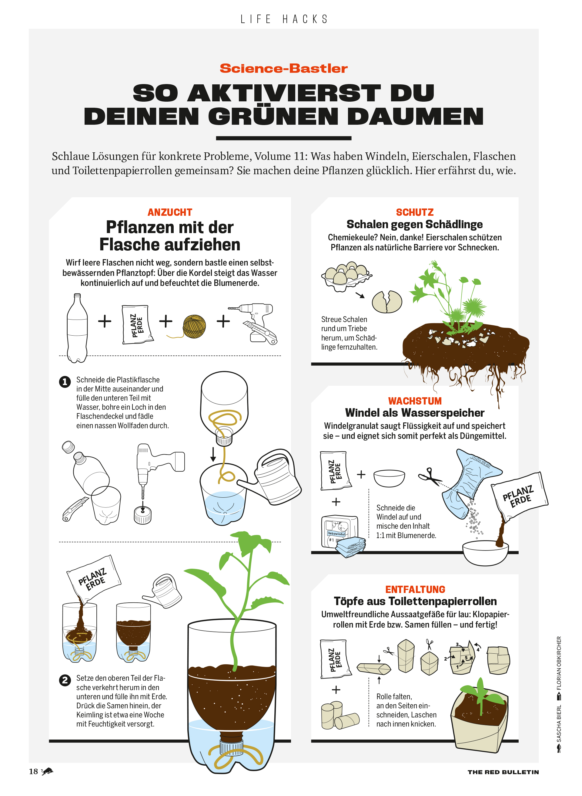 Illustrationen Lifehacks The Red Bulletin 0819